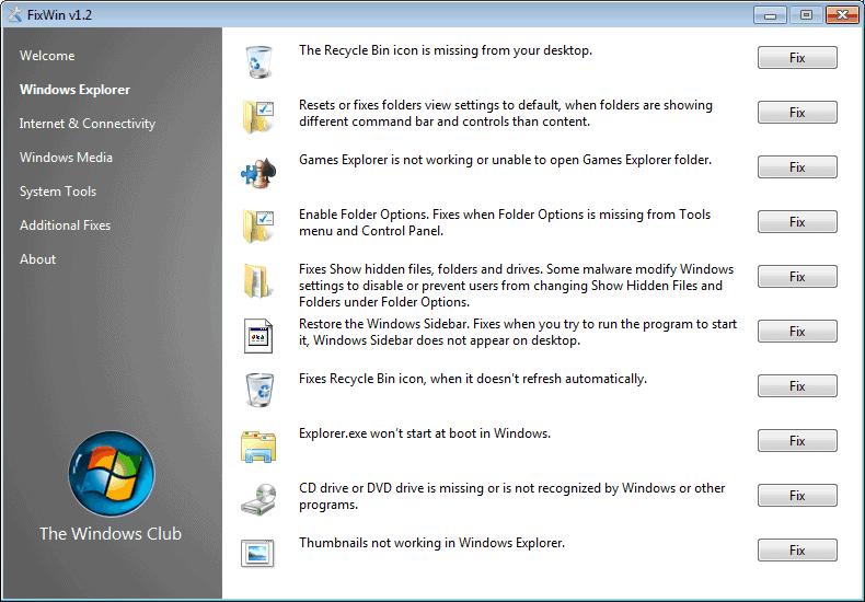windows software repair tools
