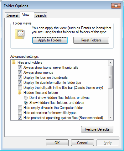 Enable One View Mode For All Folders In Windows Explorer