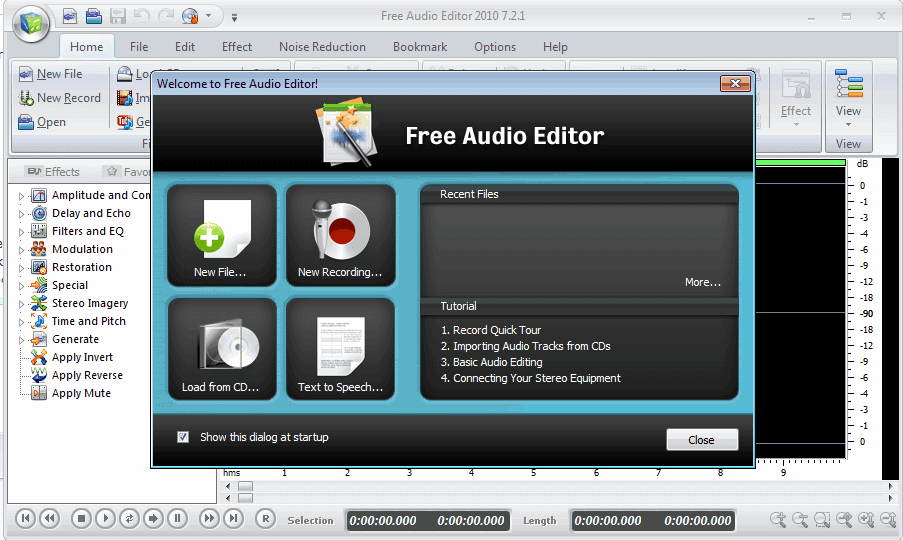 Sound recorder and editor for windows 7.