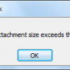 outlook 2010 attachment exceeds limit