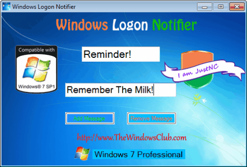 windows logon notifier