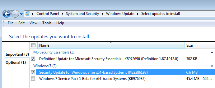 windows security update
