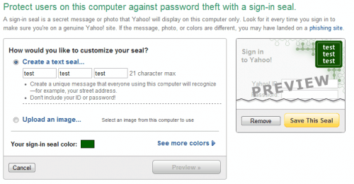 yahoo login protection
