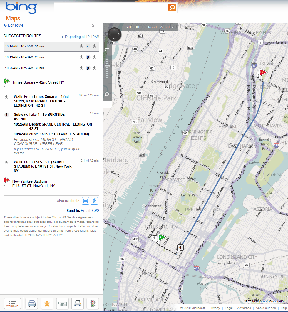 Bing Maps Gets Transit Directions - gHacks Tech News