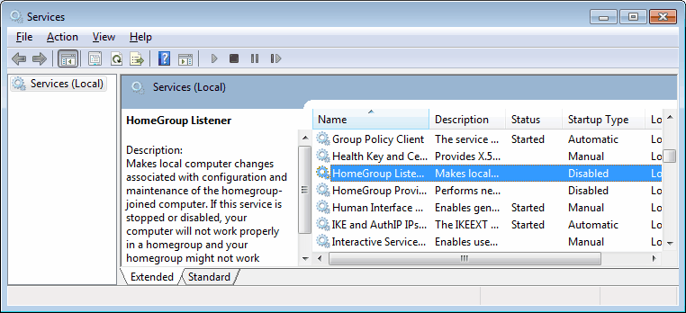 homegroup listener provider