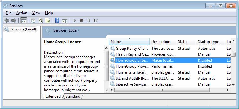 homegroup listener provider
