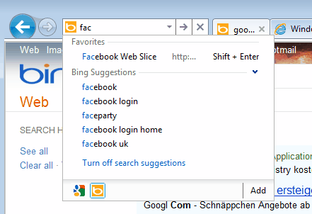 ie9 search