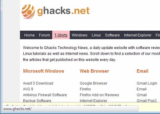 Display Link Targets In Firefox With Hidden Status Bar