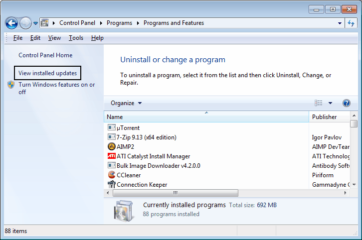 how to get dates on installed programs in control panel
