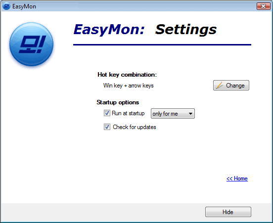 EasyMonSettings