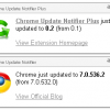 chrome update notifier