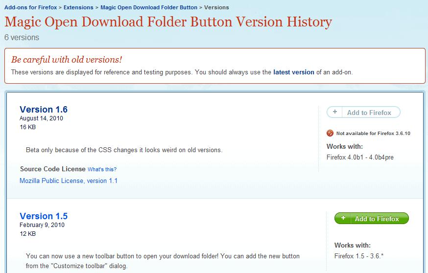 open downloaded folder