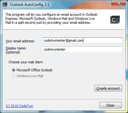 outlook autoconfig