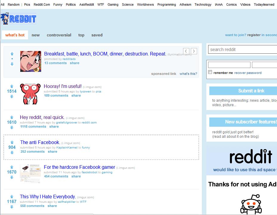 Reddit website