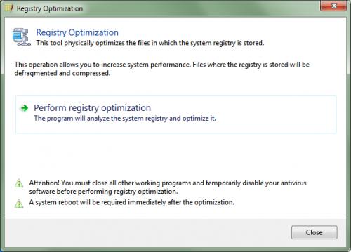registry optimization