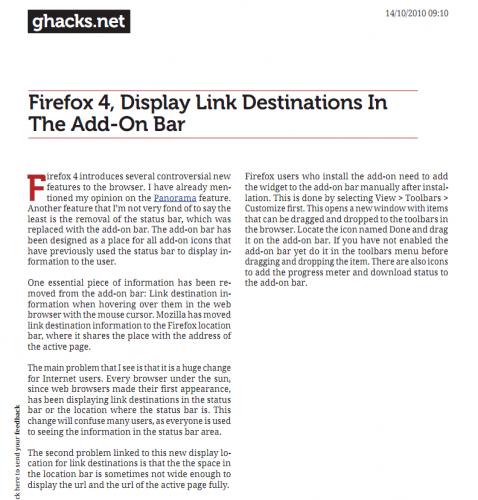 web page pdf document