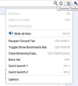 chrome custom menu