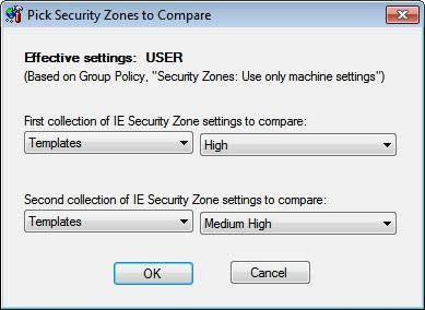 compare security zones