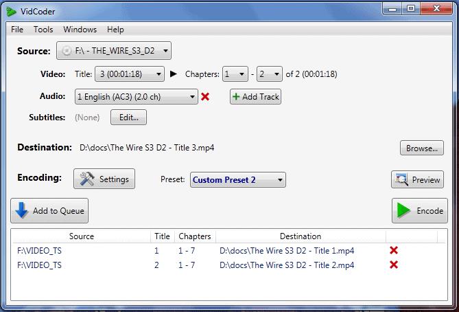 vidcoder dvd ripping software