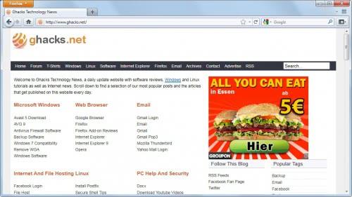 firefox 4 user interface