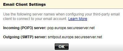 godaddy mail server