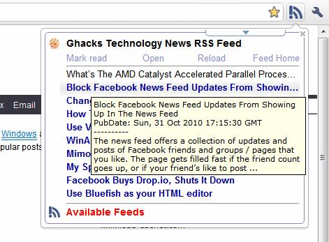 rss live links