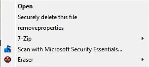 securely delete files