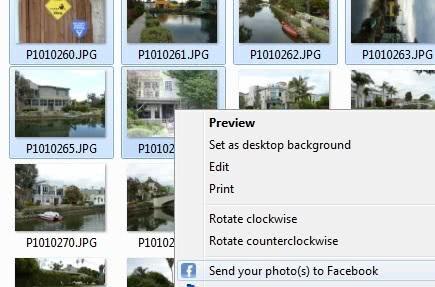send photos to facebook