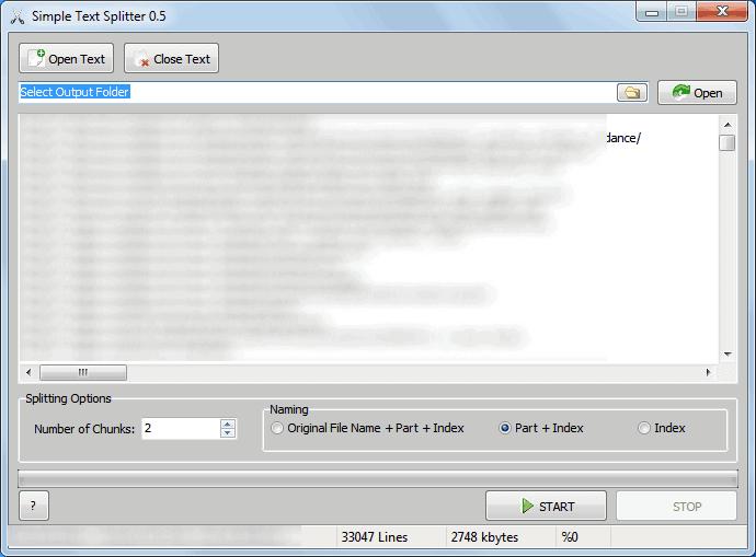 split text files