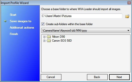 wia-loader photo import profile