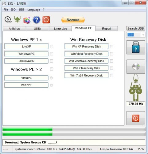 windows recovery disks