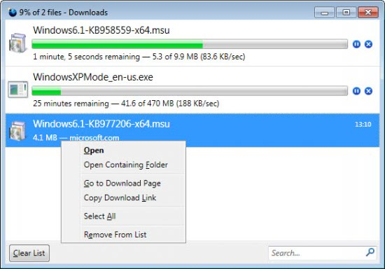 Firefox add on download manager