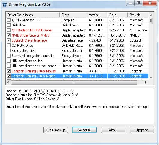 Driver Magician Lite, Backup Windows Device Drivers - gHacks
