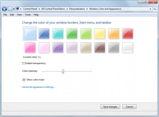 How To Disable Windows Aero Transparency In Windows 7