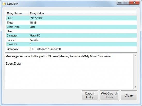event log viewer