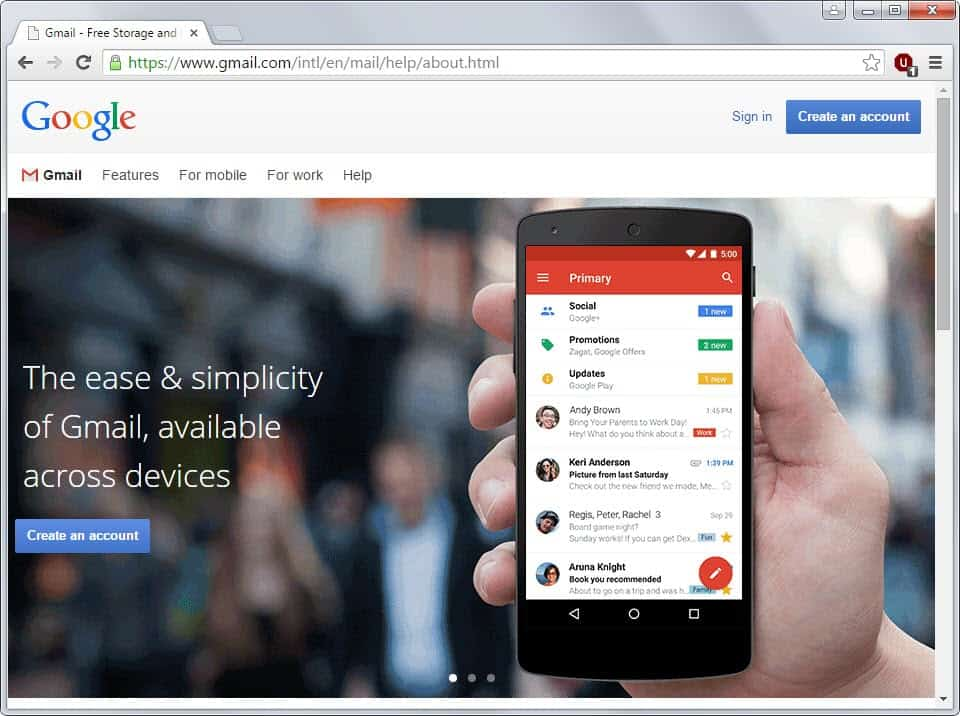 how to create google account with existing email