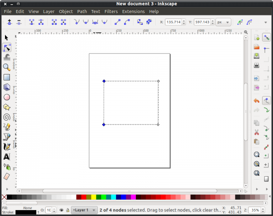 Working with bezier curves and nodes in Inkscape - gHacks Tech News