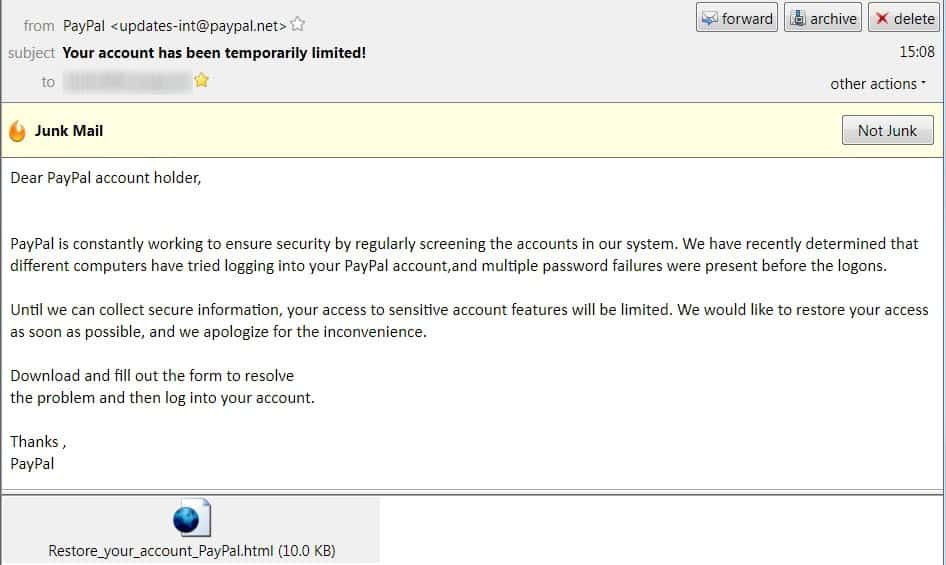 paypal your account has been temporarily limited