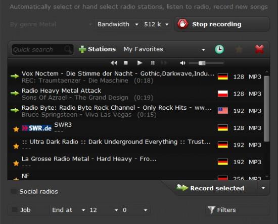 radio station recording