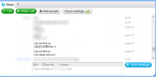 skype chat translations