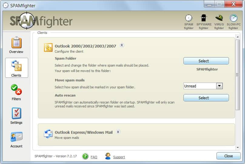 spamfighter review