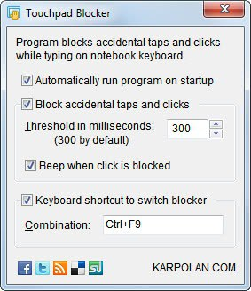 touchpad blocker