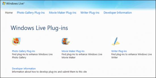 windows live plug-ins