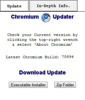 Chromium updater extension