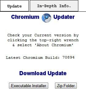 Chromium updater extension