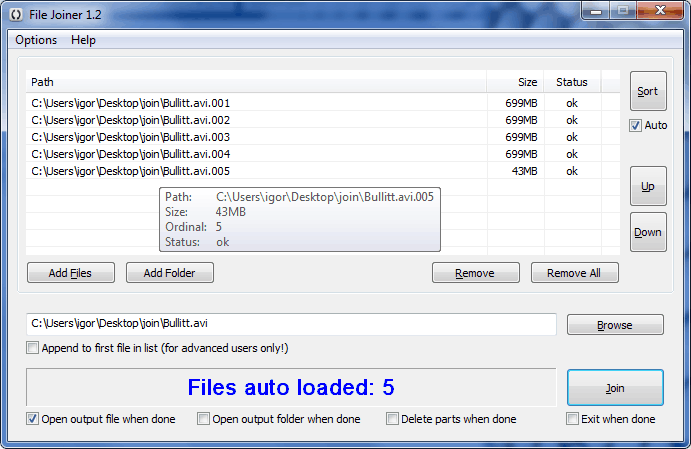 File Joiner, Combine  001,  002,  00x Files - gHacks Tech News