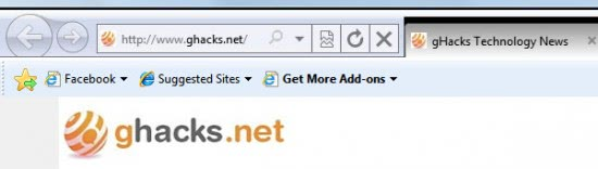 internet explorer 9 more tab space