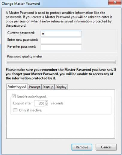 Master Password+ Improves Firefox's Master Password Feature
