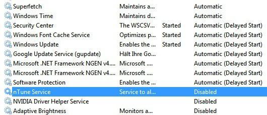 windows 7 services superfetch