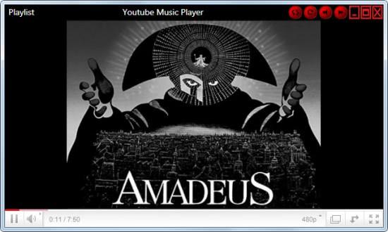 youtube music player